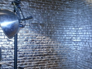 silver loft brick wall panel - muros