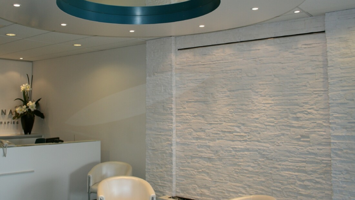 white strata stone wall panel - muros