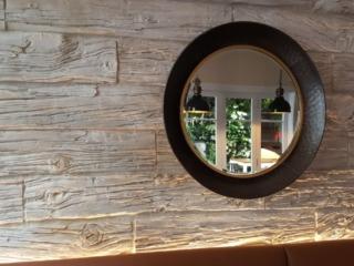 contemporary wood interior wall panel - muros