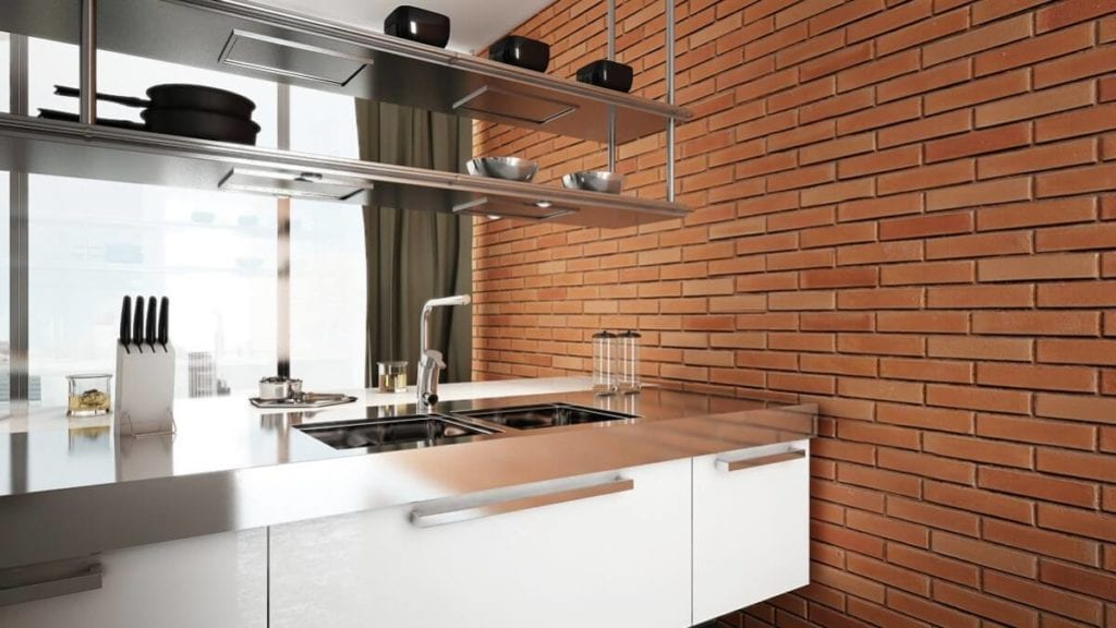 modern kitchen brick decor wall panel - muros