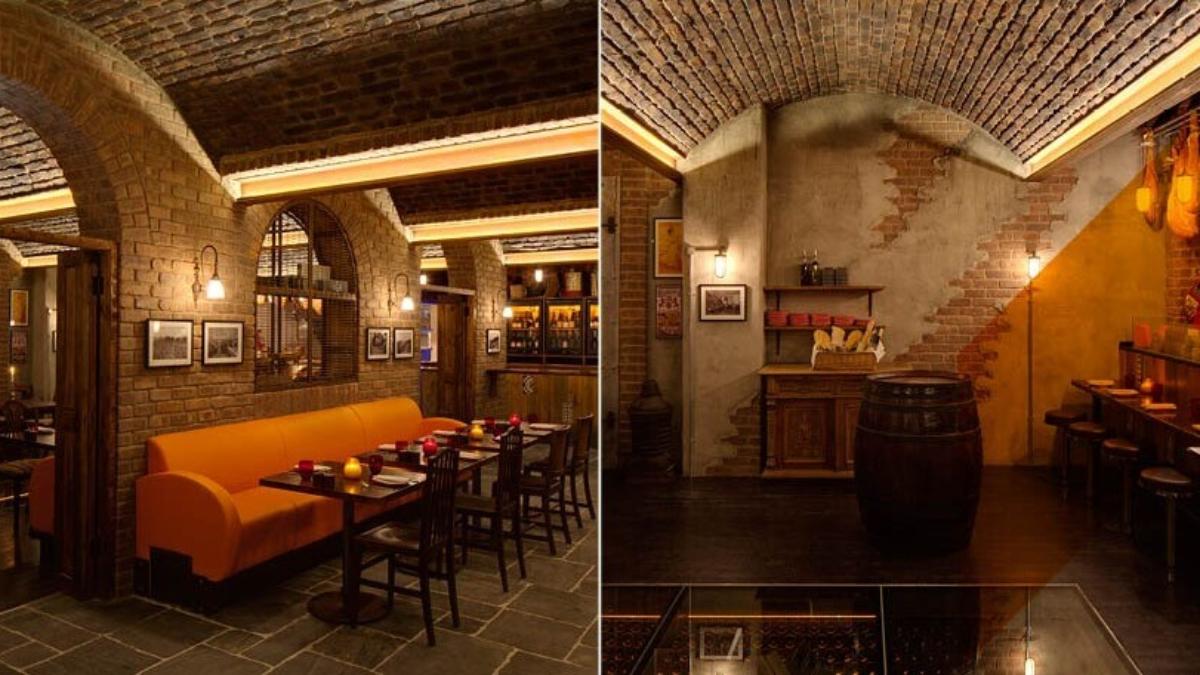 rustic loft brick wall restaurant - muros