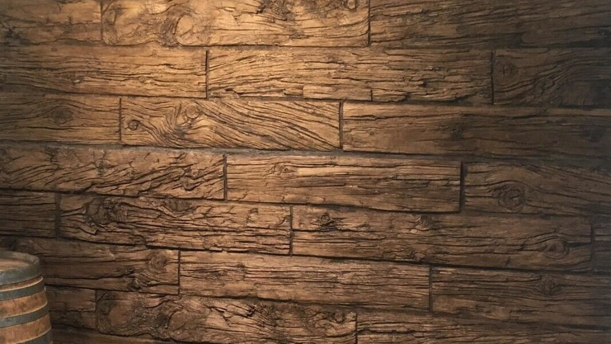 walnut wooden wall panel interior - muros