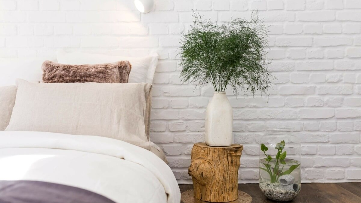 faux brick wall panel bedroom - muros