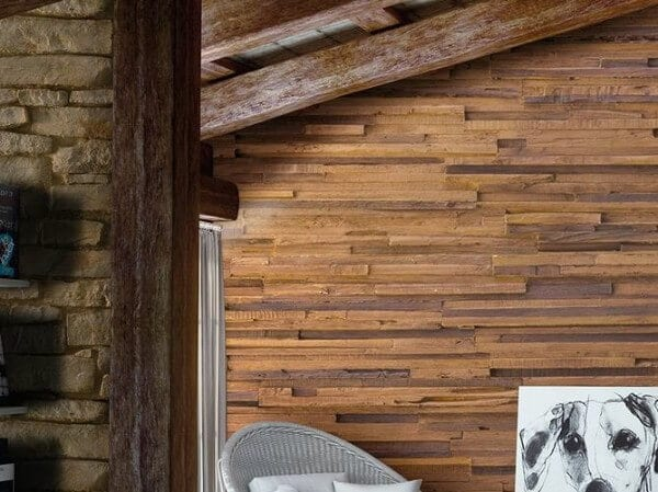 classic beams wooden wall panel - muros