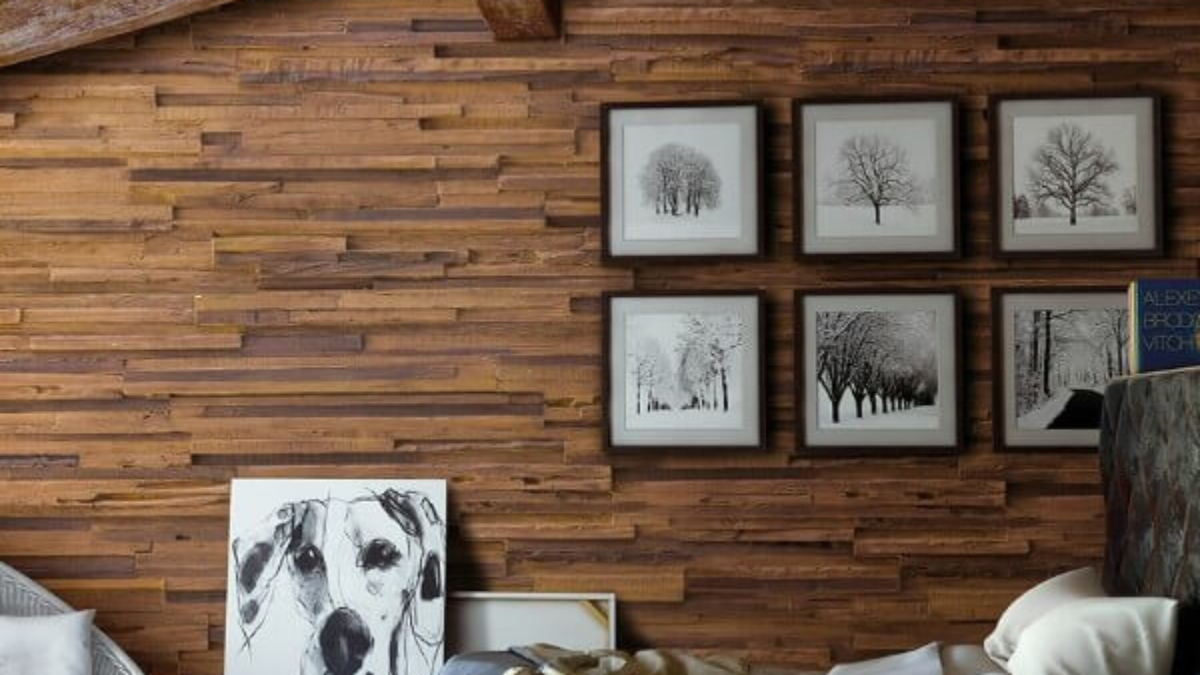 wood decor wall panel living room - muros