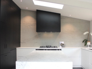 modern kitchen interior grey stone 3m wall panel - muros