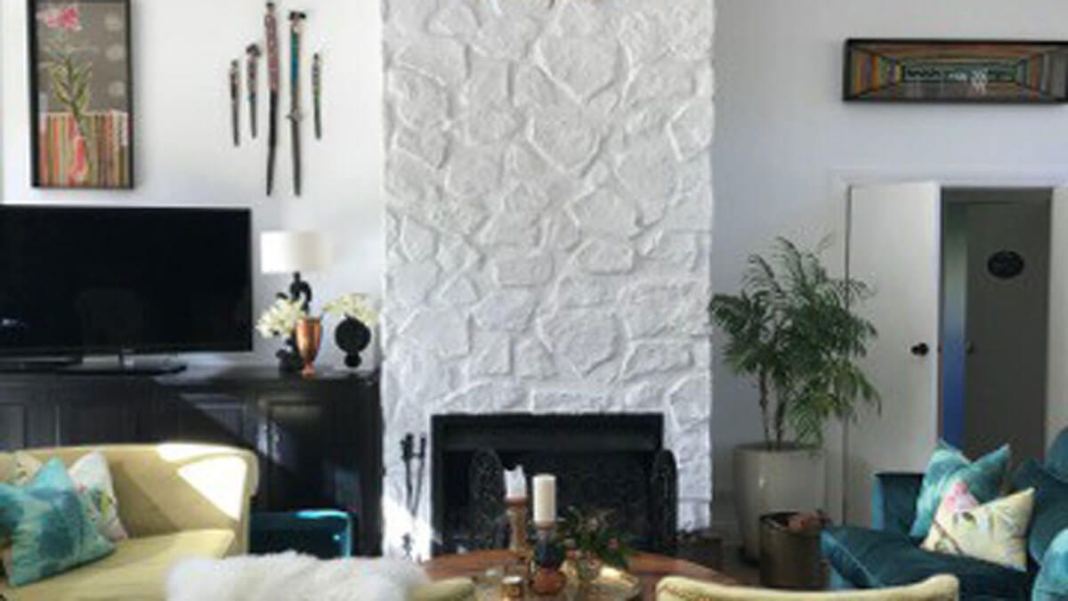 interior living room white stone 3m wall panel - muros