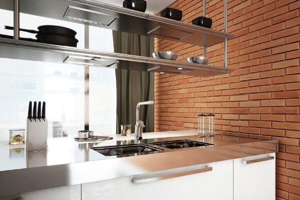 classic kitchen interior stone 3m wall panel - muros