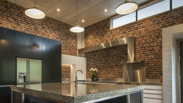 Rustic Loft Brick for Residential Kitchen Fireplace in Christchurch
