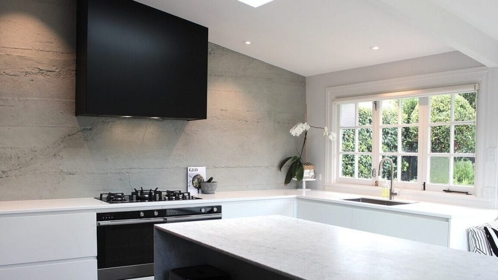 Grey Roughcast Concrete for Residential kitchen