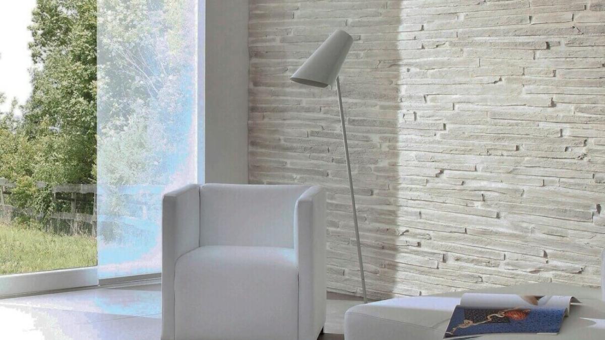 Muros Grey Schist Stone Slabs For Living Room Wall